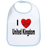 I Love United Kingdom Bib