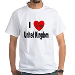 I Love United Kingdom (Front) White T-Shirt