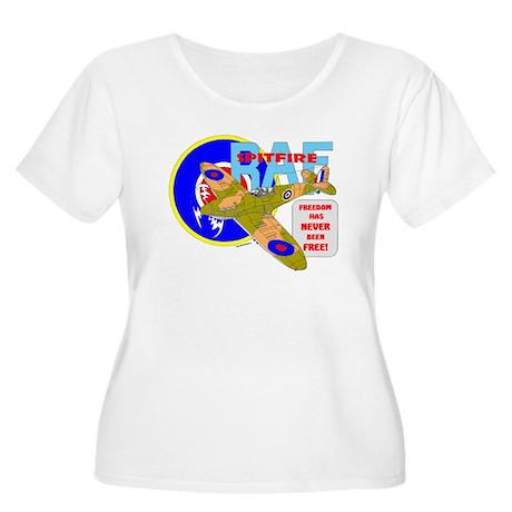 SPITFIRE Women's Plus Size Scoop Neck T-Shirt