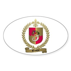 BASQUE Family Crest Oval Decal