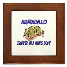 Armadillo Trapped In A Man's Body Framed Tile