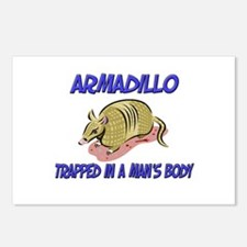 Armadillo Trapped In A Man's Body Postcards (Packa