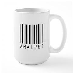 Analyst Barcode Large Mug
