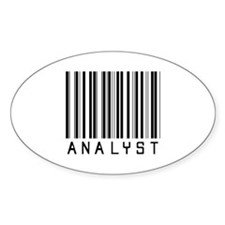 Analyst Barcode Oval Decal