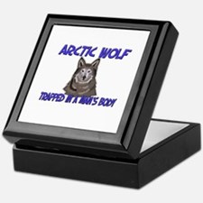 Arctic Wolf Trapped In A Man's Body Keepsake Box