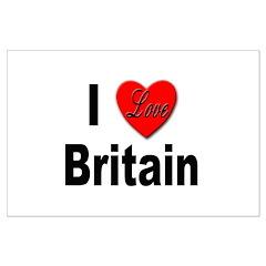 I Love Britain Posters
