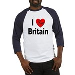 I Love Britain (Front) Baseball Jersey