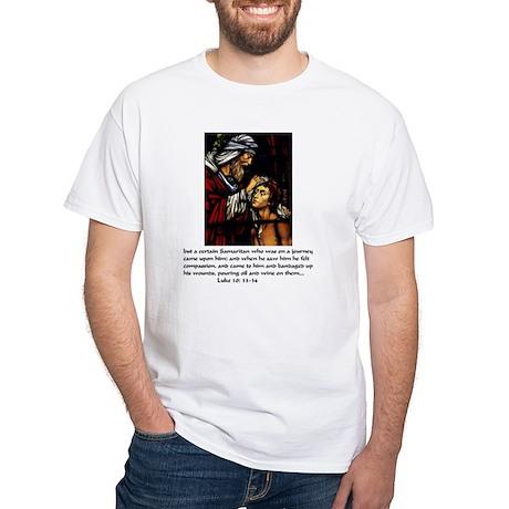 Good samaritan white t shirt good samaritan shirt for Good white t shirts