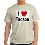 I Love Tucson Arizona (Front) Ash Grey T-Shirt