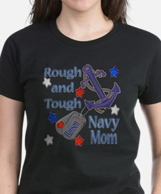 Peggy's Rough and Tough Navy Mom Tee