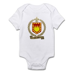 BASSET Family Crest Infant Creeper