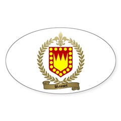 BASSET Family Crest Oval Decal