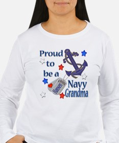 Peggy's Custom Navy Grandma T-Shirt
