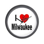 I Love Milwaukee Wisconsin Wall Clock
