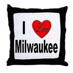 I Love Milwaukee Wisconsin Throw Pillow