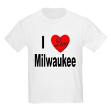I Love Milwaukee (Front) Kids T-Shirt
