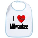 I Love Milwaukee Wisconsin Bib