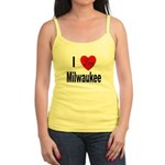 I Love Milwaukee Wisconsin Jr. Spaghetti Tank