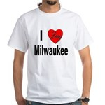 I Love Milwaukee (Front) White T-Shirt