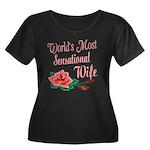 Sensational Wife Women's Plus Size Scoop Neck Dark