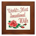 Sensational Wife Framed Tile