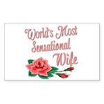 Sensational Wife Rectangle Sticker