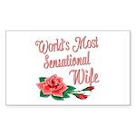 Sensational Wife Rectangle Sticker 10 pk)