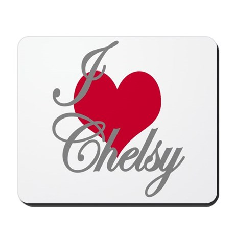 I love (heart) Chesly Mousepad