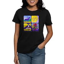 relax and smile, it's sequim women's dark t-shirt