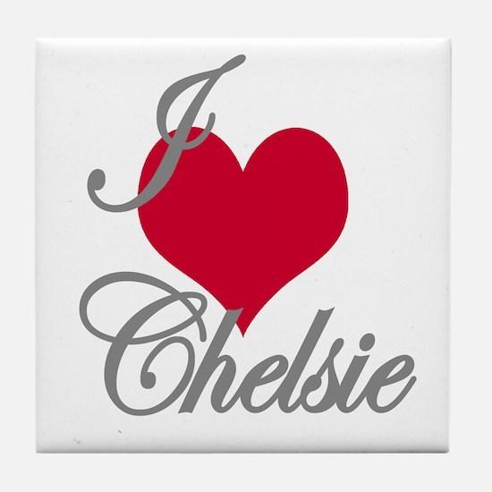 I love (heart) Chelsie Tile Coaster