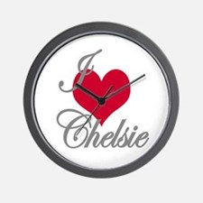 I love (heart) Chelsie Wall Clock