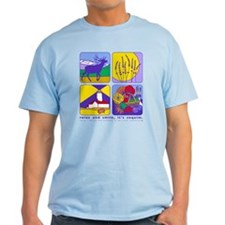 relax and smile, it's sequim light t-shirt