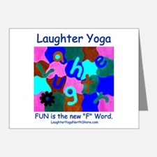 Laughter Yoga Blue Note Cards (Pk of 20)