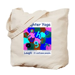 Laughter Yoga Confuses Blue Tote Bag