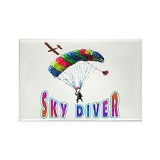 Sky Diver Rectangle Magnet