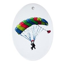 Sky Diver Oval Ornament