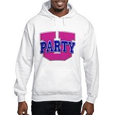 Party U/(Pink/Blue Logo) Hoodie