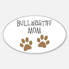 Bullmastiff Mom Oval Decal