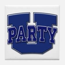 Party U/(Blue/Blue Logo) Tile Coaster