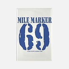 Mile Marker 69 Rectangle Magnet