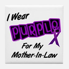 I Wear Purple 8 (Mother-In-Law) Tile Coaster