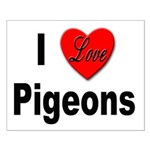 I Love Pigeons Small Poster