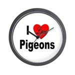 I Love Pigeons Wall Clock