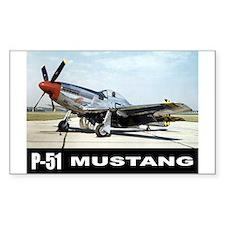 P-51D Mustang Rectangle Decal