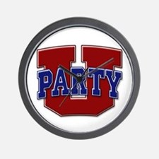 Party U/(Red/Blue Logo) Wall Clock