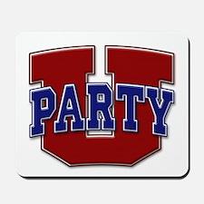 Party U/(Red/Blue Logo) Mousepad