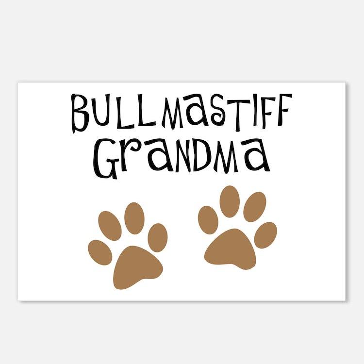 Bullmastiff Grandma Postcards (Package of 8)