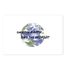 Save the Earth Save The World Postcards (Package o