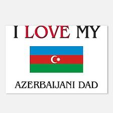 I Love My Azerbaijani Dad Postcards (Package of 8)