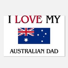 I Love My Australian Dad Postcards (Package of 8)